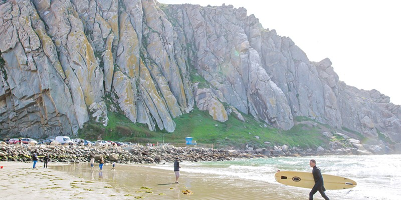 SAND AND SURF Although Morro Bay isn't always the sunniest spot on the coast, it is the Best Surf Spot in the county, according to New Times readers.