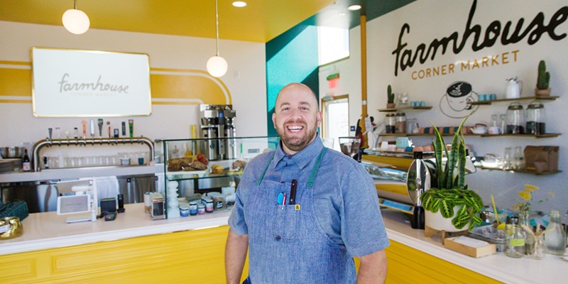 "BEST NEW SPOT Farmhouse Corner Market owner-chef Will Torres and his partners are making waves at the corner of Farmhouse Lane and Highway 227—a spot that also happens to be the ""intersection of flavor and friendship."""