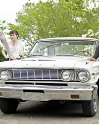 ROAD TRIP (Left to right) Frank Bledsoe (Paul Bettany); his niece, Beth (Sophia Lillis); and Frank's boyfriend, Wally (Peter Macdissi), travel from NYC to Paul and Beth's family home in South Carolina for Frank's father's funeral, in the comedy-drama Uncle Frank, screening on Amazon Prime.