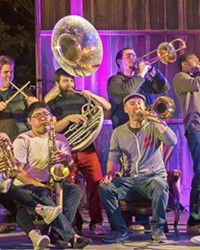 PHAT HORNS Catch the funk and pop mash-ups of horn ensemble Brass Mash on March 5 at Liquid Gravity.