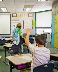 FACE-TO-FACE Thanks to COVID-19, in-person classrooms like this one at Kermit King Elementary School in Paso Robles look a lot different than they used to, and that can be intimidating to people who would normally substitute teach.