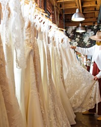 DREAM DRESS Moondance Bridal Manager Olivia Pereira can help brides-to-be with tough decisions about length, cut, material, fit, and more at the Best Bridal Shop, located on Santa Barbara Avenue in San Luis Obispo.