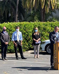 SAFE PARKING FOR ALL At a press conference in Santa Barbara on May 3, U.S. Rep. Salud Carbajal (D-Santa Barbara) introduced the Naomi Schwartz Safe Parking Program Act.