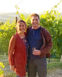 POWER COUPLE John Merrick and Daniela Medrano (pictured) operate MEA Wine in Atascadero, with Merrick serving as the winemaker and Medrano running the business side.