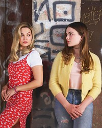 SWITCHEROO After Kate (Olivia Holt, left) is abducted, school wallflower Jeanette (Chiara Aurelia) seems to effortlessly take her place as the popular girl in school, acquiring both her friends and boyfriend, in the Hulu TV series Cruel Summer.