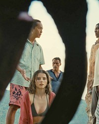GOING ... GONE Various vacationers at a tropical resort discover their lives have sped up on a secluded beach, aging years every hour, in auteur M. Night Shyamalan's Old, playing in local theaters.