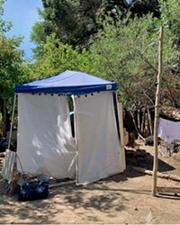 CLEARED OUT Paso Robles police and fire departments worked together to clean camps like these out of the Salinas Riverbed between July 13 and 22.