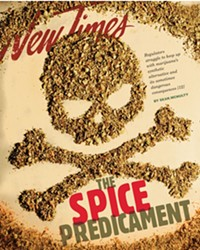 SPICE  PROBLEMS: LOCAL CITIES ARE OUTLAWING THE POSSESSION OF SYNTHETIC CANNABINOIDS, BUT HOW DANGEROUS ARE THEY, EXACTLY?
