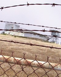 WIRE HAPPY :  The infamous Cambria Air Force Base is the scene of a search into the wild blue yonder