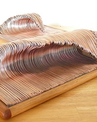 MAKING WAVES: CAYUCOS ELECTRICIAN CASS HOLUK TURNS COPPER WIRES INTO ART