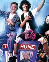 BODACIOUS A young Keanu Reeves (right) co-stars with Alex Winter in the classic film Bill and Ted's Excellent Adventure.