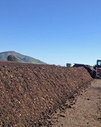 LOCALLY MADE Cal Poly compost is made by students—by the campus, for the campus. It's sold locally and supplies campus landscaping services and the organic farm.