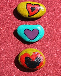 ROCKS OF EMPOWERMENT Therapeutic art is one way that Stand Strong tries to help victims of intimate partner violence—children and adults—sort through the trauma they've experienced.