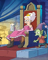PRINCESS DIARIES Princess Bean shirks the ladylike expectations of her princessly duties in favor of drinking, gambling, and fighting evil with her catlike demon pal, Luci, and Elfo, an elf with a crush on her.