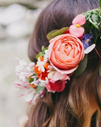FIT FOR A QUEEN Eden Floral creates floral crowns, bouquets, and other botanical arrangements for various services and events, including bridal showers and weddings of course.
