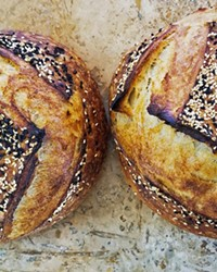 DROOL WORTHY  Pamela Brown, who  teaches a class on  sourdough baking at  the California Folk School  in Los Alamos, bakes so much  bread she often gives it  away. With simple  and limited ingredients, sourdough can be  a good way to introduce yourself to home baking.