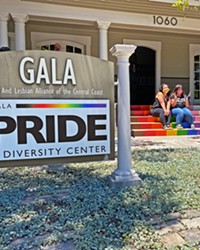 SHOWING PRIDE Community members celebrated Pride in San Luis Obispo by momentarily stopping by the Gala Pride and Diversity Center.