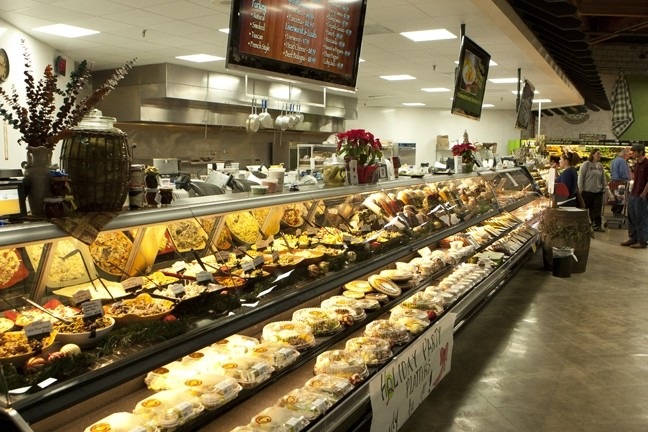 MILES OF FRESH FOOD :  In the front of the store is the fresh food cabinet with a multitude of offerings.