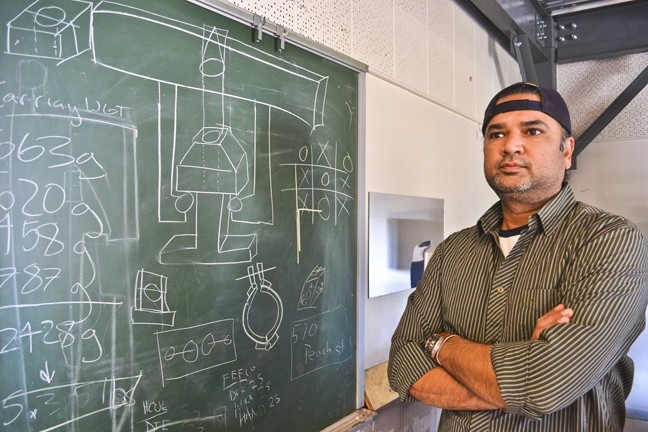 THE WHOLE PACKAGE:  Dr. Jay Singh, a professor of industrial technology at Cal Poly, said that though packaging, his field, is a $160 billion industry in the U.S. alone, it is often overlooked by both academics and the general public. - PHOTO BY RHYS HEYDEN