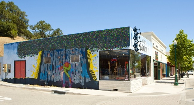 UN-PERMITTED EXPRESSION :  Officials found that this mural doesn't fit the neighborhood character of downtown Atascadero. If the decision isn't appealed by July 6, the ARTery will have to paint over it or face fines. - PHOTO BY STEVE E. MILLER