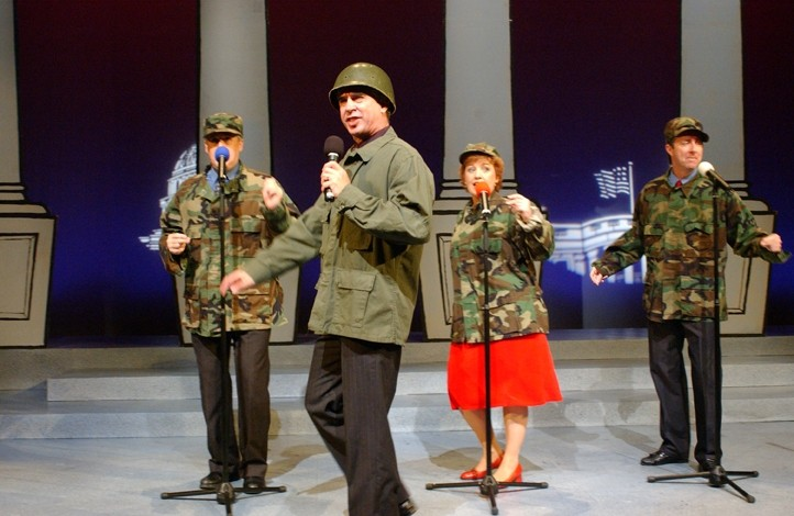 POLITICAL PUGILISTS:  Musical satirists The Capitol Steps play May 15 in the Cohan Center at the PAC. - PHOTO COURTESY OF THE CAPITAL STEPS