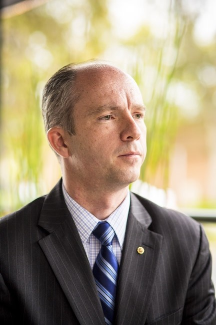 DA MAN:  After a heated political battle for the top law enforcement job in SLO County, Dan Dow [pictured] beat out competitor Tim Covello in the election for District Attorney. Covello has since moved to take a new job in Santa Barbara County. - FILE PHOTO BY HENRY BRUINGTON