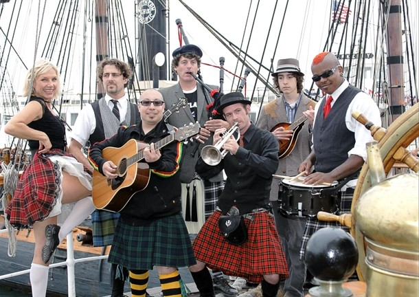 MEN IN SKIRTS :  The California Celts are coming to Mr. Rick's for the Avila Beach Fish and Farmers Market starting on Friday, Aug. 13, and they'll return for a show on Aug. 14. - PHOTO COURTESY OF CALIFORNIA CELTS