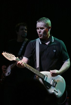 LEGACY ARTIST :  Dave Wakeling fronts The English Beat at SLO Brewing Co. on Dec. 23. In 2006, his trademark Vox teardrop guitar was added to the displays at the Rock and Roll Hall of Fame. - PHOTO BY JACKIE BUTLER