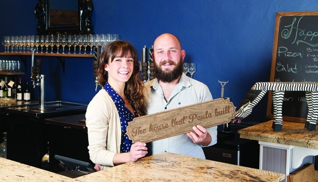 EAT, DRINK, AND BE MERRY:  Wife and husband team, Alex and Shawn Dugan are happy to serve you at their new wine bar and eatery next to the Carlton Hotel in Atascadero. - PHOTO BY STEVE E. MILLER
