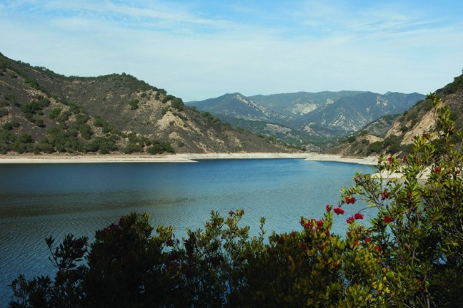 LAKES ON THE LOWDOWN:  Reservoirs in San Luis Obispo County are facing low capacity levels. Lopez Lake, pictured here, is currently in the best shape, with a 57 percent capacity. Santa Margarita Lake is at 39.2 percent capacity, with Nacimiento at 22 percent and San Antonio at 5 percent. - PHOTO BY STEVE E. MILLER