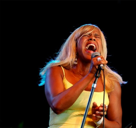 SING IT, SISTER! :  Café R&B brings its hard-charging sounds to the SLO Vets Hall on Jan. 26. - PHOTO BY BOB HAKINS; COURTESY OF CAFÉ R&B