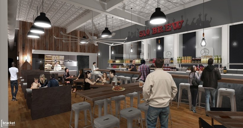 COME INSIDE :  The interior will feature design elements similar to SLO Brew's current location.