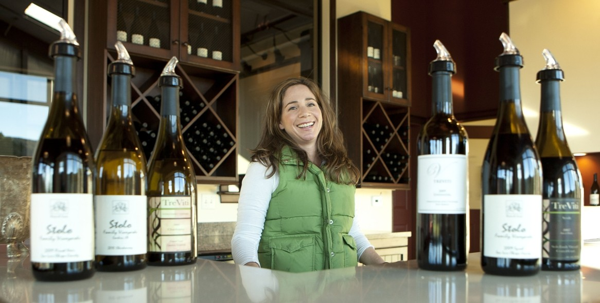 HAPPY WINES :  Maria Stolo Bennetti is the smiling face you'll see behind the counter serving wine tastings. - PHOTOS BY STEVE E. MILLER