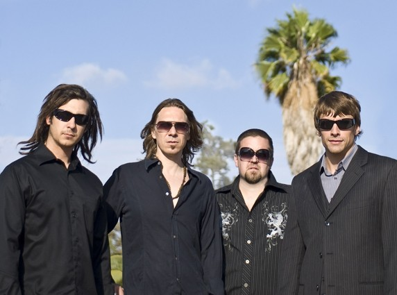 """THEY'RE MARCHING IN:  Babylon Saints—(left to right) Tyler Drake, Joseph """"Panhead"""" Peck, Brandon Petersen, and Matt Gerovac—play April 3 at Frog and Peach and again on April 10 at Mongo's. - PHOTO COURTESY OF BABYLON SAINTS"""