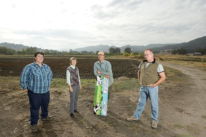 A WIN :  Members of the Huasna Valley Association—(left to right) Anna Gabriel, Lyn Schultz, Ron Skinner, and Doug Timewell—recently won a key concession from oil company Excelaron - FILE PHOTO BY STEVE E. MILLER