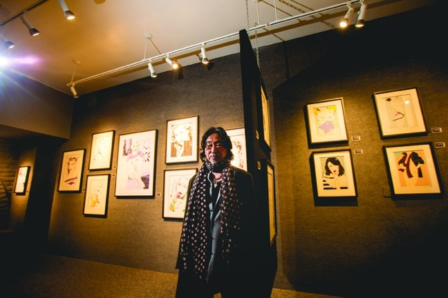 THE ARTIST:  Dennis Mukai's '80s retrospective had a great turn out. The Just Looking Gallery was packed to the gills, and this photo was taken right before the crowds piled in. - PHOTO BY HENRY BRUINGTON
