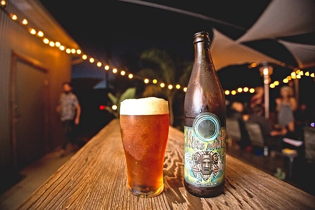 "KING OF BEER:  BTD's King Mate IPA is a gateway beer that lures non-IPA drinkers over to the hoppy side while still pleasing the hop-till-you-drop crowd. ""It's an IPA, but it's a mild one,"" Gary said of BTD's most popular beer. ""It's an English style so it's got an earthiness to it."" - PHOTO BY KAORI FUNAHASHI"