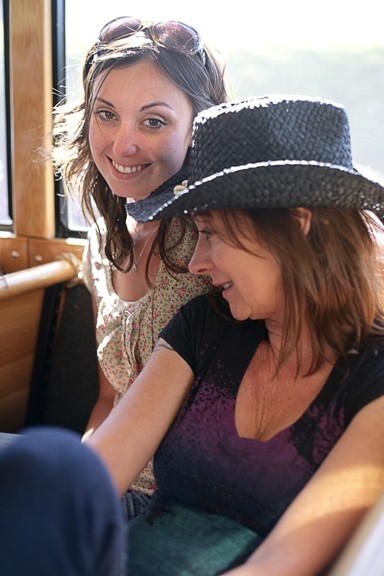 HEADING HOME :  Birthday girl Tamara and her mom Cheri spend some quality time together as we roll back into SLO Town. - PHOTO BY GLEN STARKEY