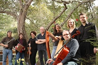 CENTRAL COAST ALL STARS! :  On May 9, Steynberg Gallery will host the CD release of Beneath a Jeweled Sky, a new collection of Celtic songs by the Jill Poulos Band, filled with some of the country's best musicians. - PHOTO COURTESY OF JILL POULOS