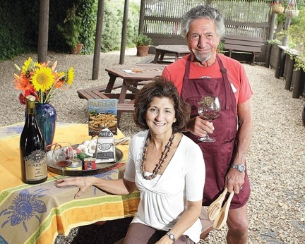 BOLD AND BEAUTIFUL :  Windward Vineyards owners Marc Goldberg and Maggie D'Ambrosia founded the Paso Pinot and Paella Festival, which quickly outgrew its original venue at Windward. - PHOTOS BY STEVE E. MILLER