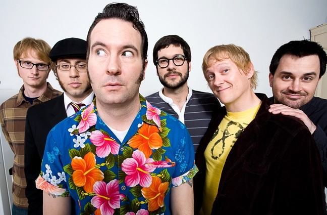 WHOLE LOTTA SKANKIN' GOIN' ON! :  Since Reel Big Fish sold out SLO Brew last March, Numbskull Productions decided to book them into an even bigger venue, which is why the ska-punk act will land on the SLO Vets Hall stage on Nov. 6. - PHOTO COURTESY OF REEL BIG FISH