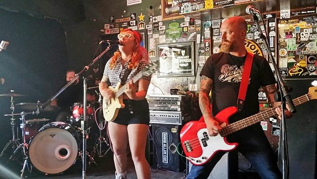FIRST GIG:  Hayley and the Crushers made their Twang N Bang debut, and they sure were grateful for the opportunity to rock it. - PHOTO BY CHAD NICHOL