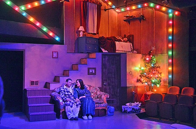 UNTIL NEXT YEAR:  The Old Man (Mike Mesker) and Mother (Alyson Wren) enjoy a quiet moment together after the madness of Christmas day has subsided. - PHOTO COURTESY OF JAMIE FOSTER