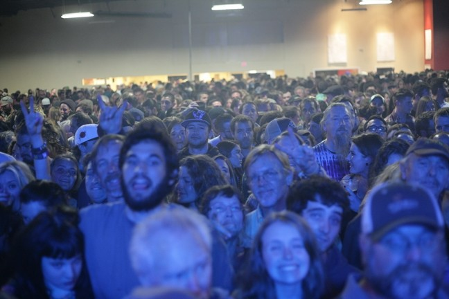 OH THE HUMANITY!:  People from all walks of life and in all levels of sobriety packed the room. - PHOTO BY GLEN STARKEY