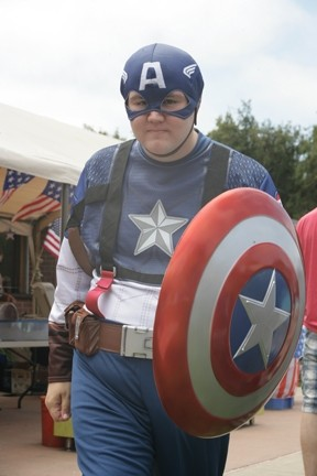 DEFENDER OF FREEDOM! :  Joseph Logan came as Captain America! - PHOTOS BY GLEN STARKEY