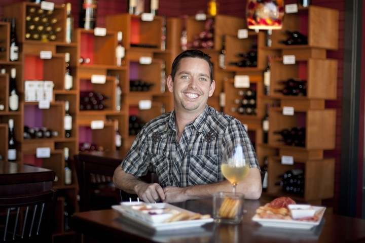 HOLD THE BUN :  Giovanni DeGarimore considered opening a burger joint, but instead opened a classy new wine bar in Morro Bay. - PHOTO BY STEVE E. MILLER