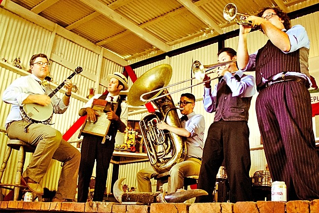 HOT JAZZ:  On July 26, the Pismo Vet's Hall hosts to a day of hot jazz with three bands, including the Crescent Katz (pictured). - PHOTO COURTESY OF THE CRESCENT KATZ