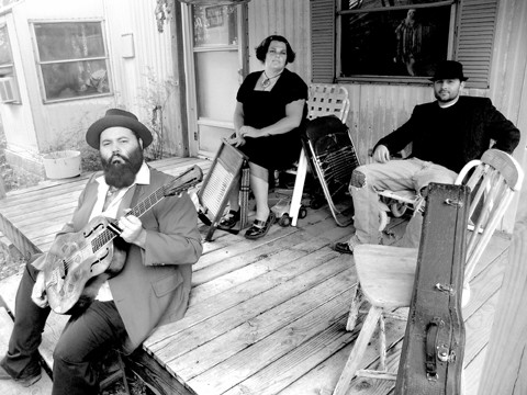 TRIO OF MYSTERY:  See The Reverend Peyton's Big Damn Band on June 24 at Downtown Brew. - PHOTO COURTESY OF THE REVEREND PEYTON'S BIG DAMN BAND