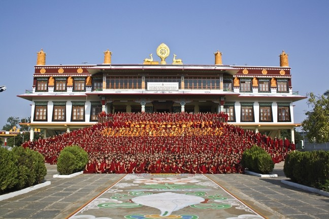 THE MONASTERY:  A piece of Tibet lives in southern India, where the Drepung Gomang Monastery is home to more than 2,000 Tibetan Buddhist monks. - PHOTO COURTESY OF ANET CARLIN