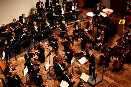 UP TO THE TASK:  The Saturday, Feb. 2 concert by the SLO Symphony (pictured) centered on Robert Thies' performance of Rachmaninoff's Third Piano Concerto, one of the most challenging pieces of music written in the last 150 years. - PHOTO COURTESY OF THE SLO SYMPHONY